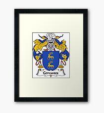 Cervantes Coat of Arms/ Cervantes Family Crest Framed Print