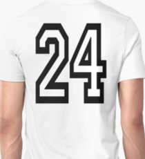24, TEAM, SPORTS, NUMBER 24, TWENTY, FOUR, Competition,  T-Shirt