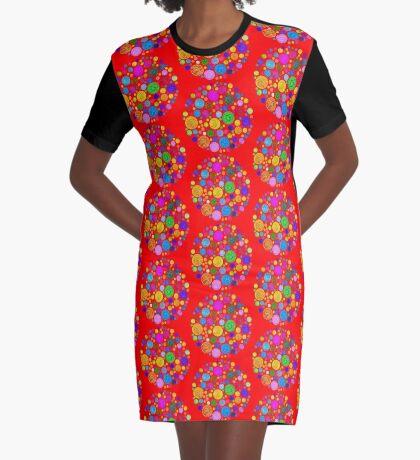 #DeepDream Color Circles Visual Areas 4x4K v1448872458 Graphic T-Shirt Dress