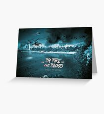 By blood and fire - Event Team [O.N.U] Greeting Card