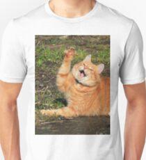Ginger cat playing T-Shirt
