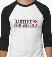 Camiseta ¾ estilo béisbol Bartlet for America Slogan