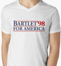 Bartlet for America Slogan Men's V-Neck T-Shirt