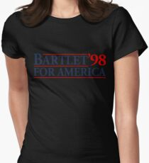 Bartlet for America Slogan Womens Fitted T-Shirt