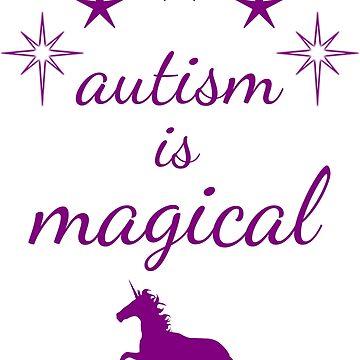 autism is magical - purple by lhabc