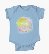 Fearless Motivation Quote Mantra Mauve Rose Watercolor Kids Clothes