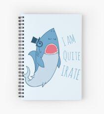 Gentleman Shark quite irate Spiral Notebook