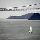 Golden Gate Bridge from Alcatraz,Sanfranciso by mikequigley