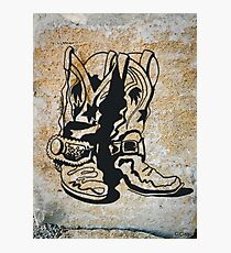 Cowgirl Cowboy Western Rodeo Boots Photographic Print