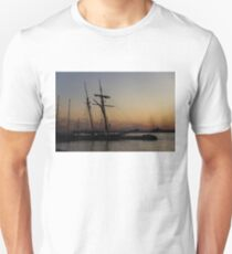 Climbing the Rigging - Sailors Silhouettes at the Hudson River Waterfront, New York City T-Shirt