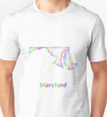 Rainbow Maryland map Unisex T-Shirt