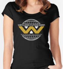 The Weyland-Yutani Corporation Globe - Clean Women's Fitted Scoop T-Shirt