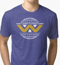The Weyland-Yutani Corporation Globe - Clean Tri-blend T-Shirt