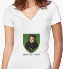 Lady Lyanna of the House Mormont Women's Fitted V-Neck T-Shirt