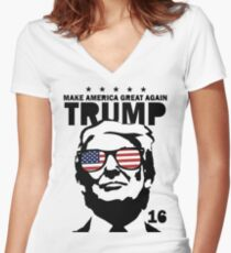 Donald Trump Make America Great Again Shirt Women's Fitted V-Neck T-Shirt