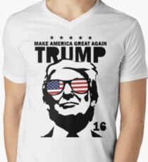 Donald Trump Make America Great Again Shirt Men's V-Neck T-Shirt
