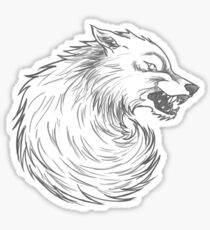 House Stark Wolf Graphic Drawing (Game of Thrones) Sticker