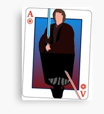 Star Wars Playing Card Canvas Print