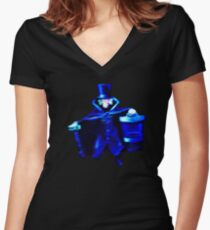 The Hatbox Ghost Women's Fitted V-Neck T-Shirt
