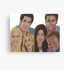 Friends TV Series Jennifer Aniston Rachel Cross Stitch Canvas Print