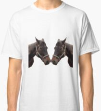 The head of a horse, two horses Classic T-Shirt