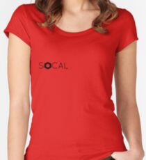SOCAL Women's Fitted Scoop T-Shirt