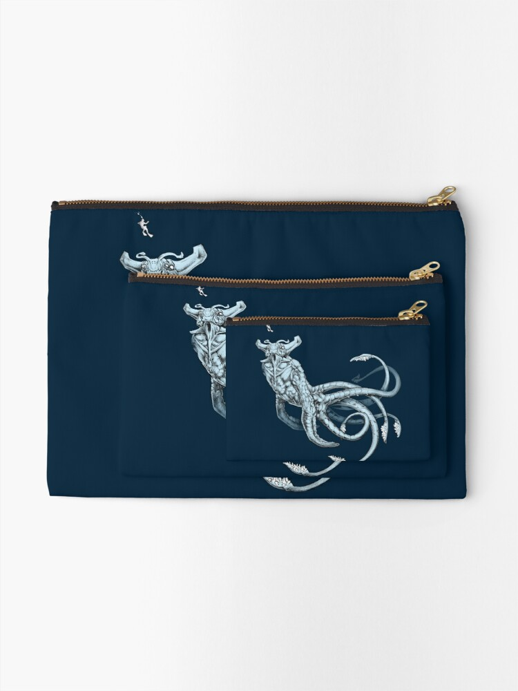 Alternate view of Sea Emperor Transparent Zipper Pouch
