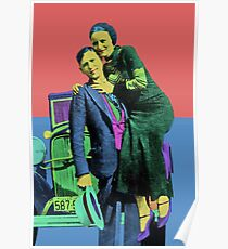 Bonnie and Clyde Pop Art Poster