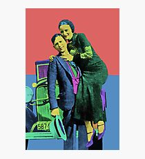 Bonnie and Clyde Pop Art Photographic Print