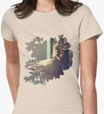 Birdshower Womens Fitted T-Shirt