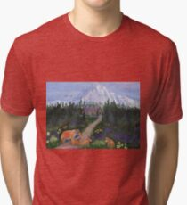 Denali, Alaska Tri-blend T-Shirt