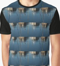 Young Red-Necked Grebe on Silver Graphic T-Shirt