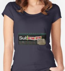 subway entrance Women's Fitted Scoop T-Shirt