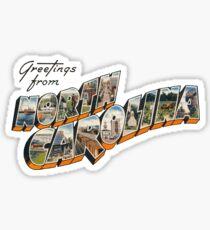 """Greetings from North Carolina"" Sticker"