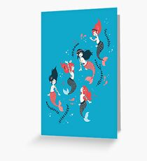 Tattooed Mermaids  Greeting Card