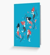 Tattooed Mermaids  Greeting Card