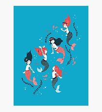 Tattooed Mermaids  Photographic Print