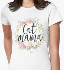 CAT MAMA Women's Fitted T-Shirt