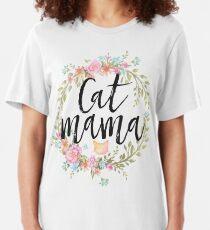 CAT MAMA Slim Fit T-Shirt