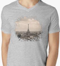 Paris Mens V-Neck T-Shirt