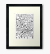 Detroit Map Line Framed Print