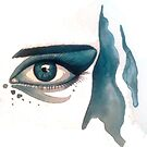 Gouache Eye 2 by AlanZinn