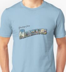 Greetings from Arkansas Unisex T-Shirt
