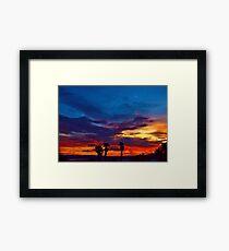 Multi Color Sunset Framed Print