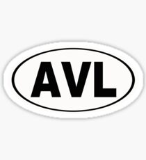 AVL Asheville North Carolina City Pride Sticker