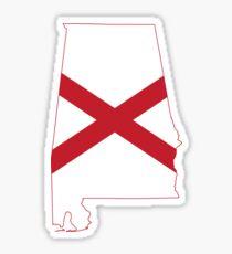 Flag Map of Alabama  Sticker