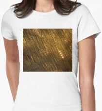 Golden Jewel Ribbons Womens Fitted T-Shirt