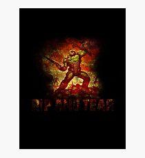 Doom - Doomslayer - Rip And Tear Photographic Print