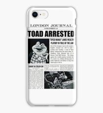 Toad Arrested Newspaper iPhone Case/Skin
