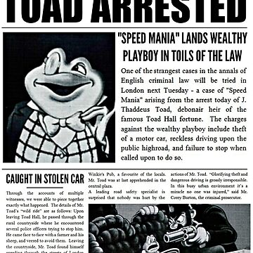 Toad Arrested Newspaper by AliceCorsairs